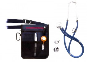 54 Nurses Pouch and blue stetchoscope-2