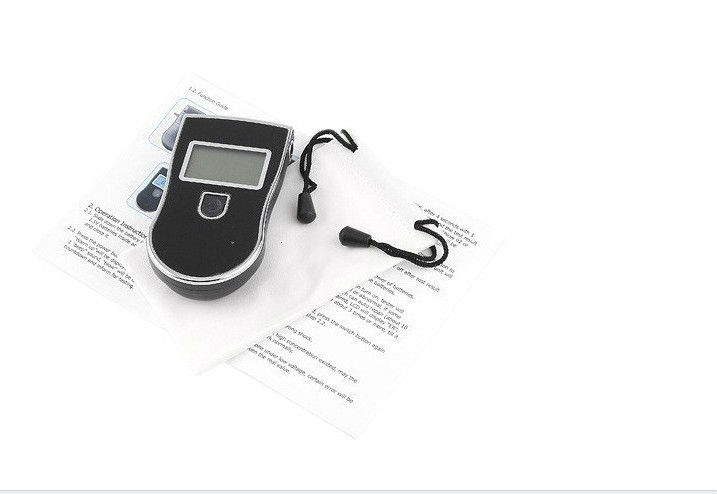 Alcohol breath tester with mouthpieces