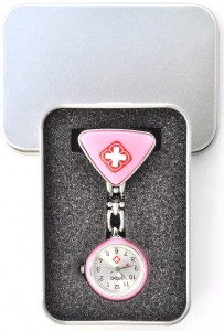Pink Japanese made stainless steel watch