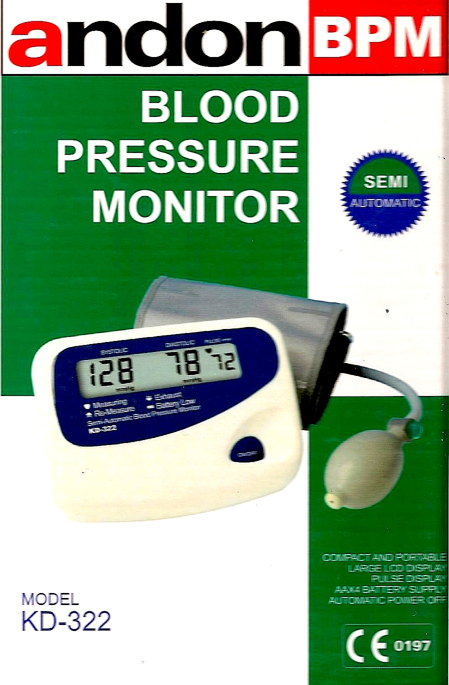 Andon Blood pressure machine semi auto