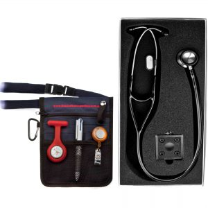 Special set, Cardiology Stethoscope pouch watch set